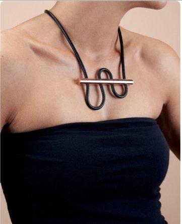 minimalist geometric necklace