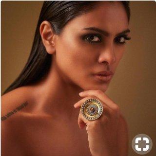 big round ethnic ring