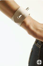 pin detail cuff bracelet
