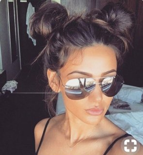 top knot hair buns