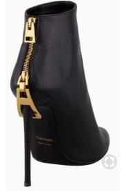 tom ford pointed toe zip detail ankle boots