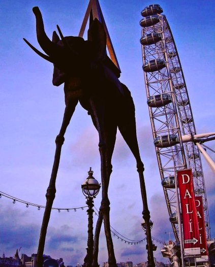 Salvador Dali and London Eye
